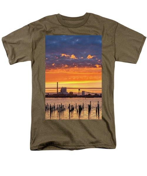 Pulp Mill Sunset Men's T-Shirt  (Regular Fit) by Greg Nyquist