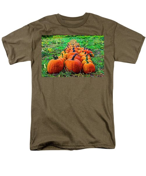 Pumpkin Patch Men's T-Shirt  (Regular Fit) by Dale R Carlson