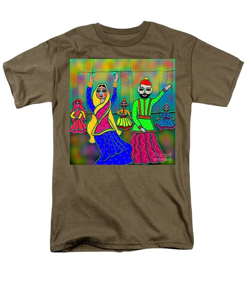 Men's T-Shirt  (Regular Fit) featuring the digital art Puppets by Latha Gokuldas Panicker