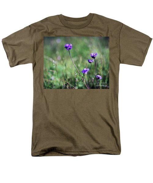 Men's T-Shirt  (Regular Fit) featuring the photograph Purple Flowers by Jim and Emily Bush