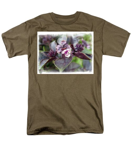 Men's T-Shirt  (Regular Fit) featuring the photograph Purple In Autumn by Joan  Minchak