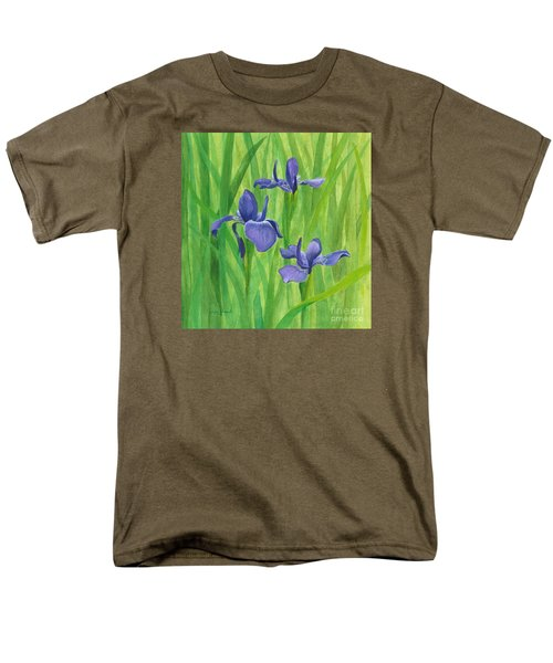 Purple Iris Men's T-Shirt  (Regular Fit) by Phyllis Howard