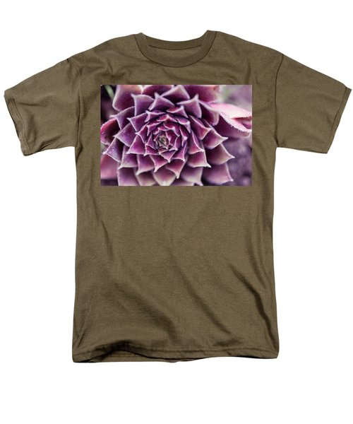 Purple Succulent Plant Blossom In Summer Men's T-Shirt  (Regular Fit) by Jingjits Photography