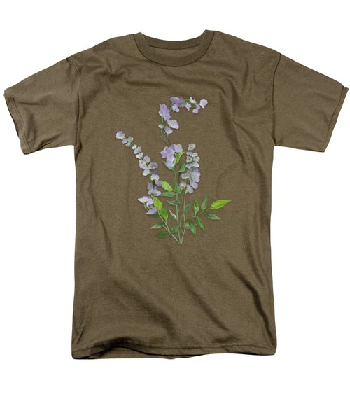 Purple Tiny Flowers Men's T-Shirt  (Regular Fit) by Ivana Westin