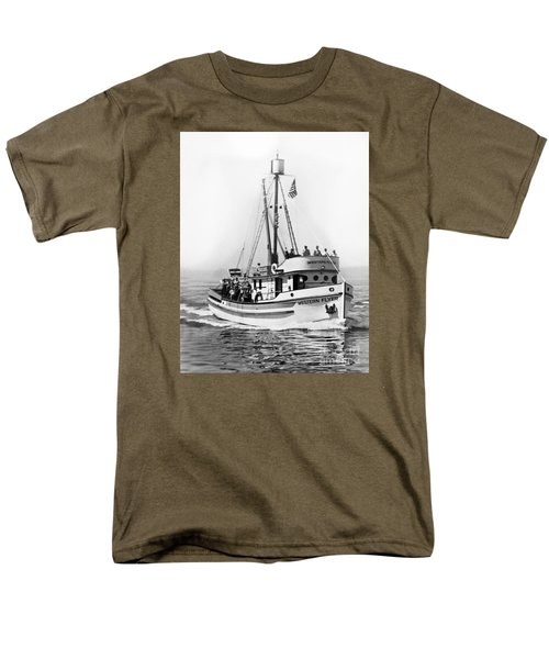 Purse Seiner Western Flyer On Her Sea Trials Washington 1937 Men's T-Shirt  (Regular Fit) by California Views Mr Pat Hathaway Archives