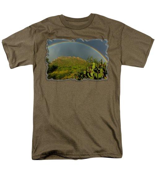 Pusch Ridge Rainbow H38 Men's T-Shirt  (Regular Fit) by Mark Myhaver