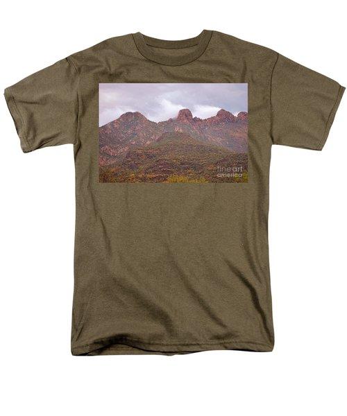 Pusch Ridge Tucson Arizona Men's T-Shirt  (Regular Fit) by Donna Greene