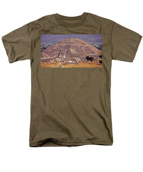 Pyramid Of The Sun - Teotihuacan Men's T-Shirt  (Regular Fit) by Juergen Weiss
