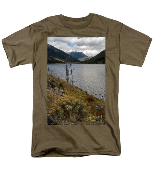 Quake Lake Men's T-Shirt  (Regular Fit) by Cindy Murphy - NightVisions