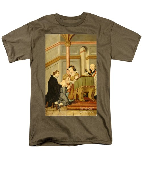 Queen Mary I Curing Subject With Royal Men's T-Shirt  (Regular Fit) by Wellcome Images