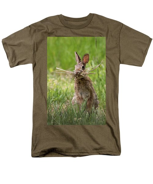 Rabbit Collector  Men's T-Shirt  (Regular Fit) by Terry DeLuco