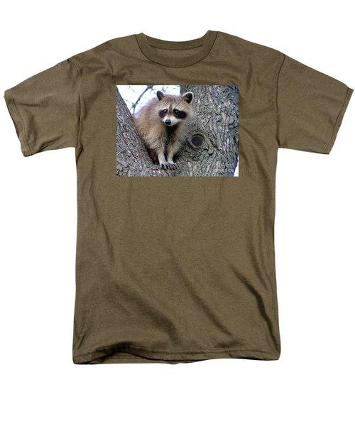 Raccoon Lookout Men's T-Shirt  (Regular Fit) by Susan  Dimitrakopoulos