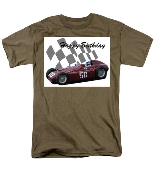 Racing Car Birthday Card 1 Men's T-Shirt  (Regular Fit) by John Colley