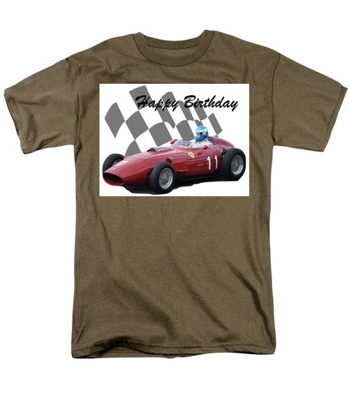 Racing Car Birthday Card 2 Men's T-Shirt  (Regular Fit) by John Colley