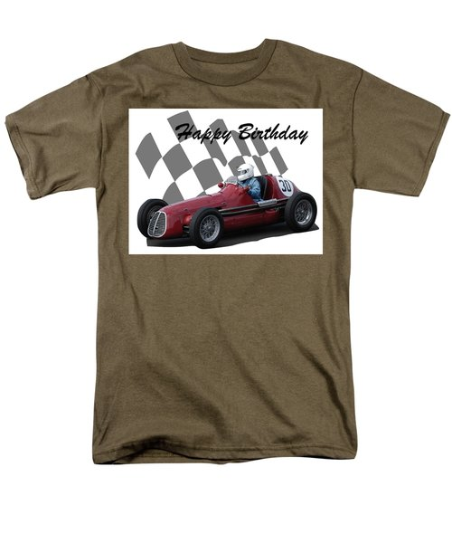 Racing Car Birthday Card 6 Men's T-Shirt  (Regular Fit) by John Colley