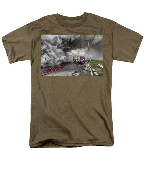 Men's T-Shirt  (Regular Fit) featuring the photograph Raging Inferno by Jim Lepard
