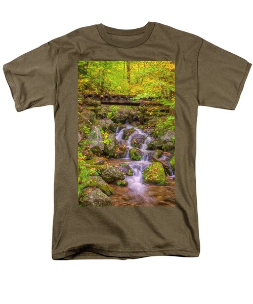Railroad In The Woods Men's T-Shirt  (Regular Fit) by David Cote