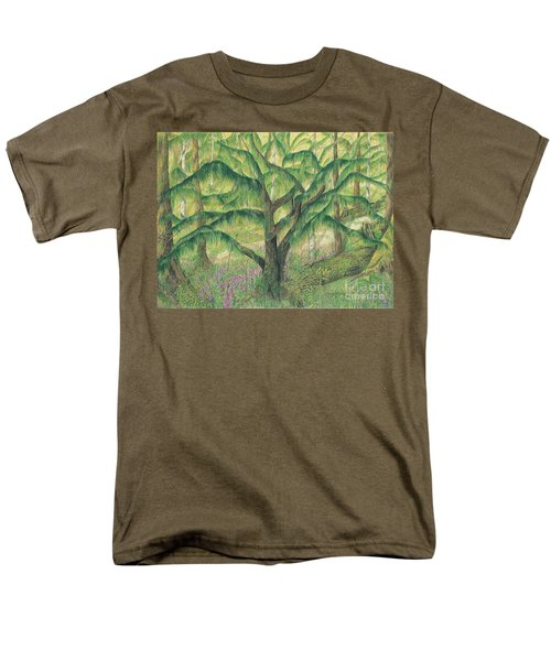 Rain Forest Washington State Men's T-Shirt  (Regular Fit) by Vicki  Housel
