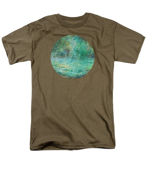Men's T-Shirt  (Regular Fit) featuring the painting Rain On The Pond by Mary Wolf