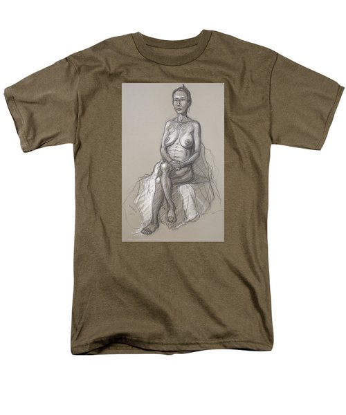 Men's T-Shirt  (Regular Fit) featuring the drawing Rain Seated #2 by Donelli  DiMaria