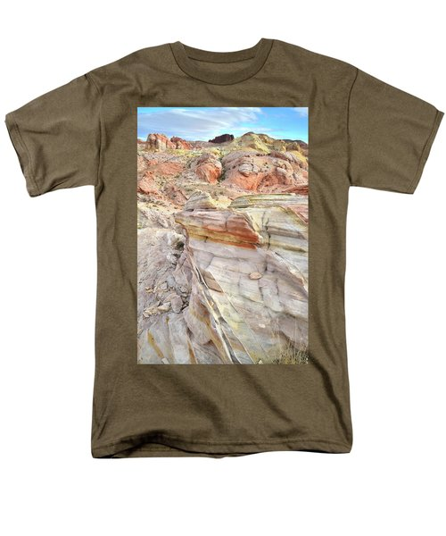 Rainbow Of Color At Valley Of Fire Men's T-Shirt  (Regular Fit) by Ray Mathis