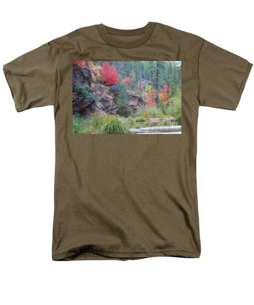 Rainbow Of The Season With River Men's T-Shirt  (Regular Fit) by Heather Kirk