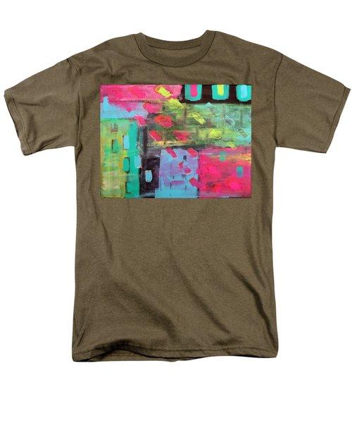 Rainbow Rain Men's T-Shirt  (Regular Fit) by Tamara Savchenko