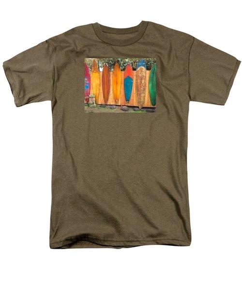 Surfboard Rainbow Men's T-Shirt  (Regular Fit) by Brenda Pressnall