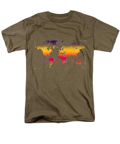 Rainbow World Tee Men's T-Shirt  (Regular Fit) by Paulette B Wright