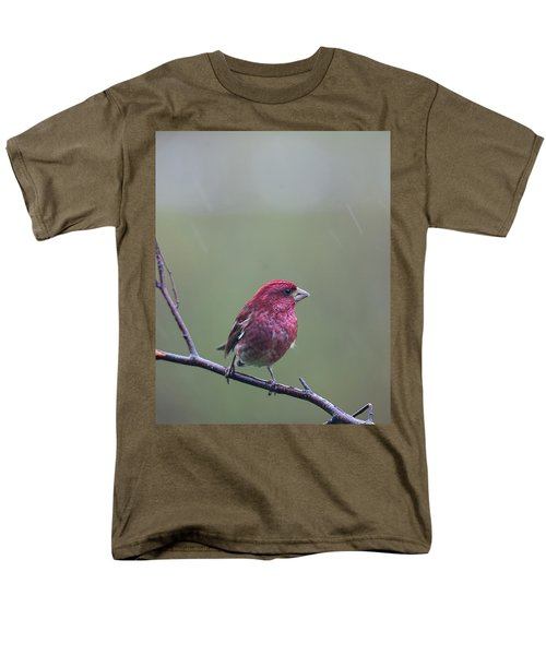 Men's T-Shirt  (Regular Fit) featuring the photograph Rainy Day Finch by Susan Capuano