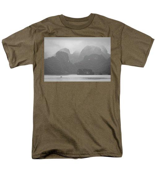 Men's T-Shirt  (Regular Fit) featuring the photograph Rainy Ha Long Bay, Ha Long, 2014 by Hitendra SINKAR