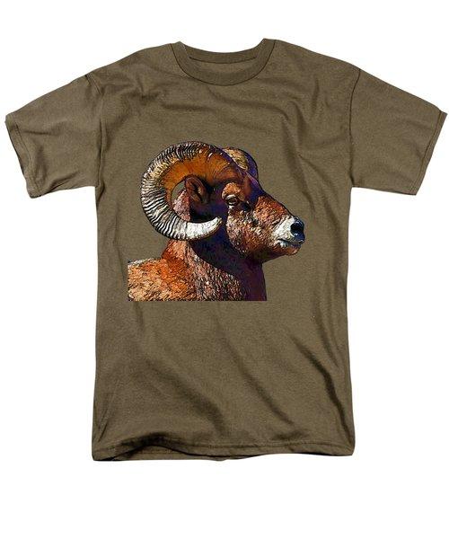 Ram Portrait - Rocky Mountain Bighorn Sheep  Men's T-Shirt  (Regular Fit)