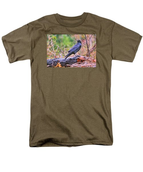 Men's T-Shirt  (Regular Fit) featuring the photograph Raven by Peggy Collins