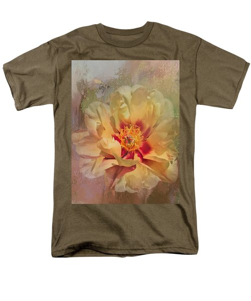 Rayanne's Peony Men's T-Shirt  (Regular Fit) by Jeff Burgess