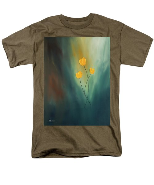 Men's T-Shirt  (Regular Fit) featuring the painting Rays Of Hope by Carmen Guedez