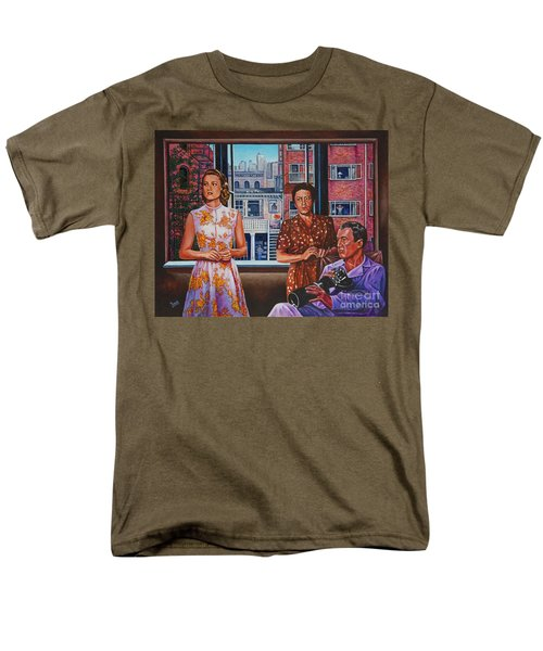 Men's T-Shirt  (Regular Fit) featuring the painting Rear Window by Michael Frank