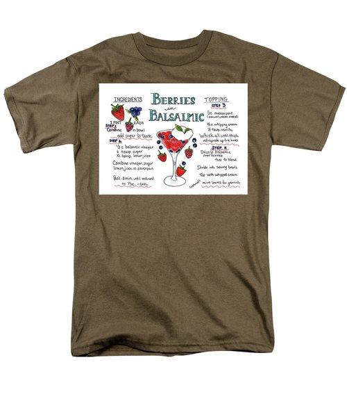 Recipe- Berries In Balsamic Men's T-Shirt  (Regular Fit)