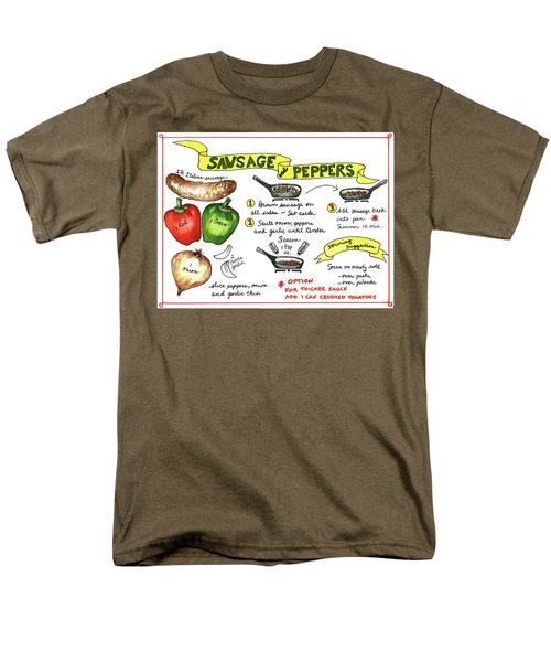 Recipe Sausage And Peppers Men's T-Shirt  (Regular Fit)