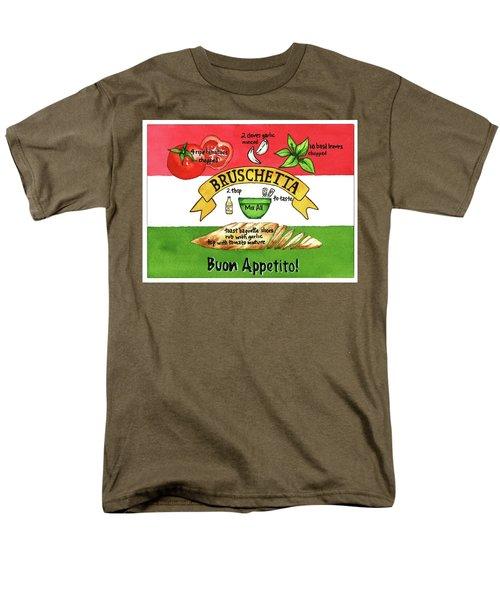 Recpe-bruschetta Men's T-Shirt  (Regular Fit)