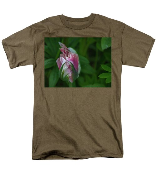 Men's T-Shirt  (Regular Fit) featuring the photograph Red And White Bud 1 by Timothy Latta