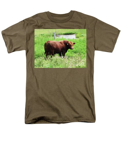 Men's T-Shirt  (Regular Fit) featuring the photograph Red Angus Bull by J L Zarek
