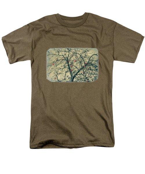 Red Apples In Empty Garden Men's T-Shirt  (Regular Fit) by Konstantin Sevostyanov