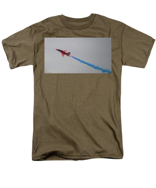 Red Arrow Blue Smoke - Teesside Airshow 2016 Men's T-Shirt  (Regular Fit) by Scott Lyons