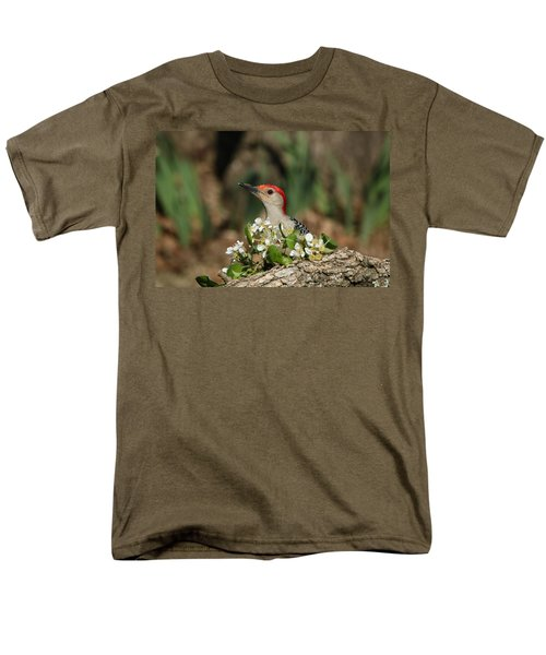 Red-bellied Woodpecker In Spring Men's T-Shirt  (Regular Fit) by Sheila Brown
