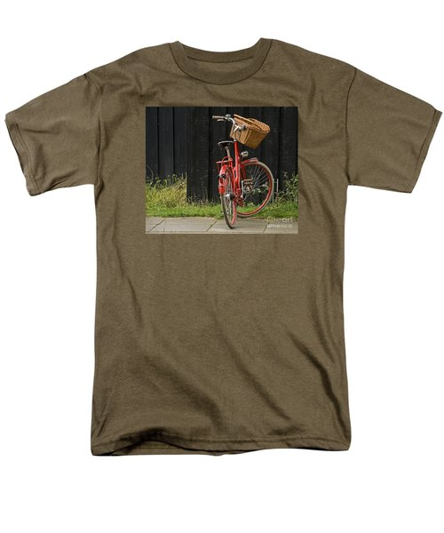 Men's T-Shirt  (Regular Fit) featuring the photograph Red Bike by Inge Riis McDonald