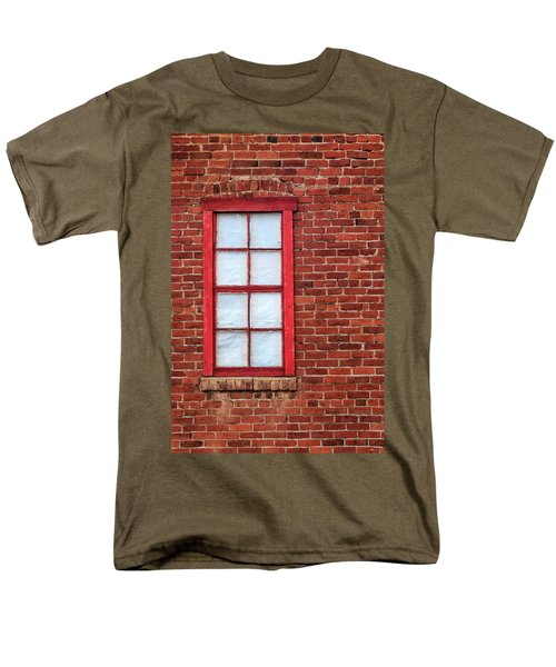 Red Brick And Window Men's T-Shirt  (Regular Fit) by James Eddy