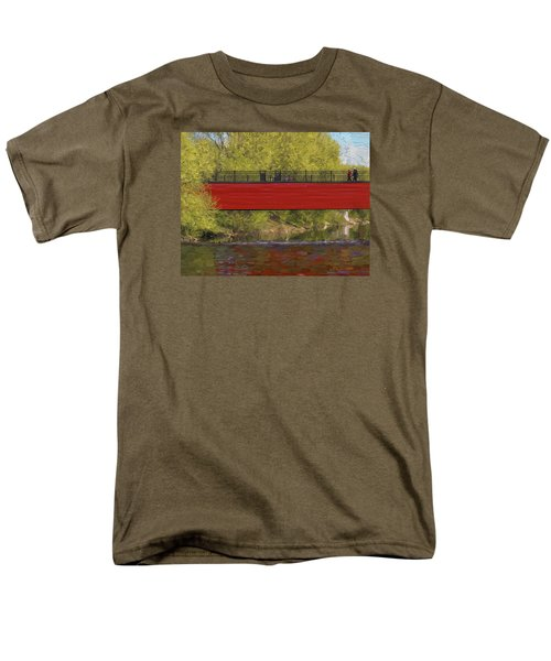 Red Bridge Men's T-Shirt  (Regular Fit) by Vladimir Kholostykh