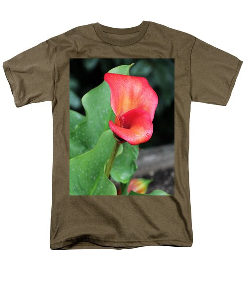 Men's T-Shirt  (Regular Fit) featuring the photograph Red Calla Lily by Katie Wing Vigil