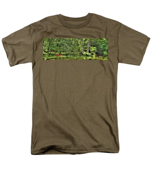 Men's T-Shirt  (Regular Fit) featuring the photograph Red Canoe Panorama by David Patterson