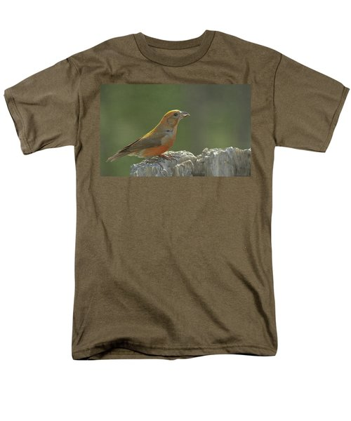 Red Crossbill Men's T-Shirt  (Regular Fit) by Constance Puttkemery